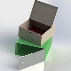 单门保管箱喷塑内盒(大)